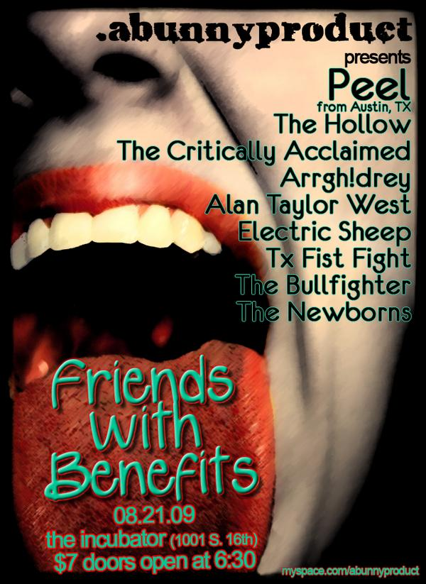 The Hollow The Critically Acclaimed Arrgh!drey Alan Taylor West Electric Sheep Tx Fist Fight The Bullfighter The Newborns Friends with Benefits benefit